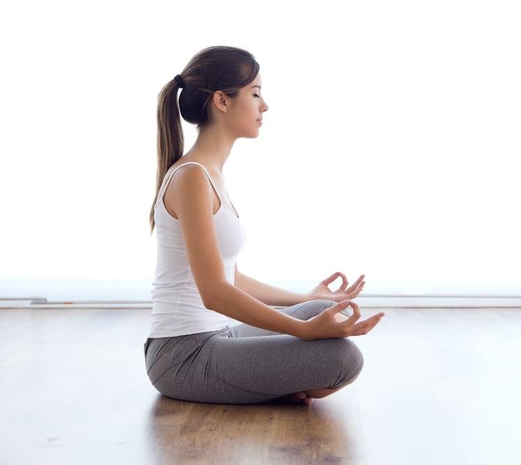 meditazione profilo bianco