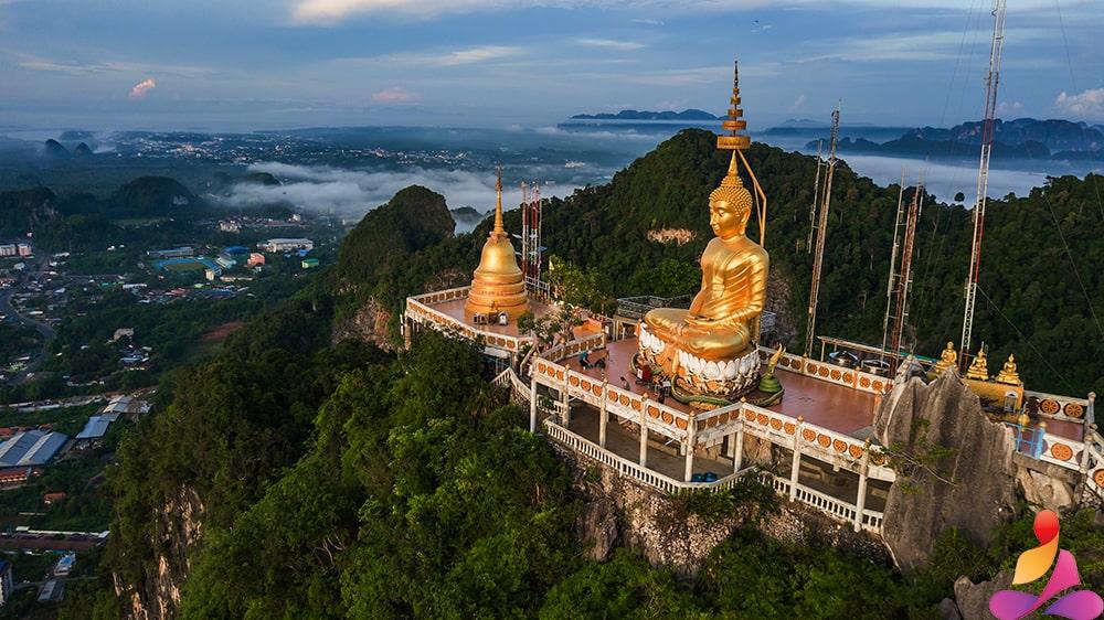 Immagine del buddha nella foresta